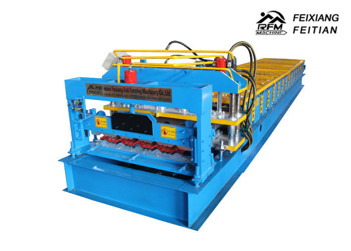2 - 5m/Min Speed Glazed Tile Roll Forming Machine For Building Material
